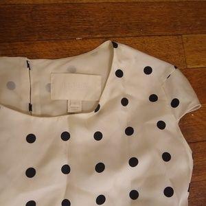 RARE J. Crew Collection Silk Polka Dot Blouse Top
